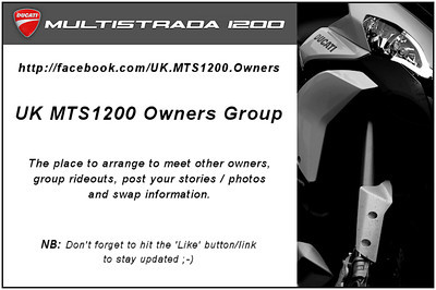UK Multistrada 1200 / MTS1200 owners group