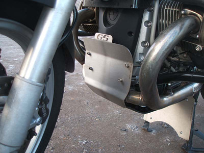 R1200GS front engine cover protection plate - crud catcher