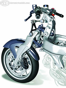 BMW K1200S Duolever front suspension