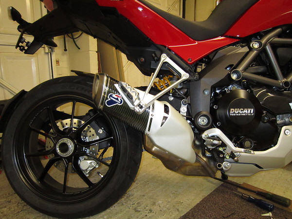 Ducati Multistrada 1200 DP 'Type Approved' Carbon silencer