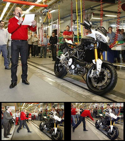 First Multistrada 1200 rolls of the factory production line