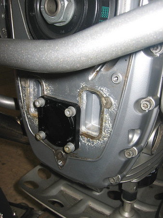 BMW R1200GS front engine cover corrosion